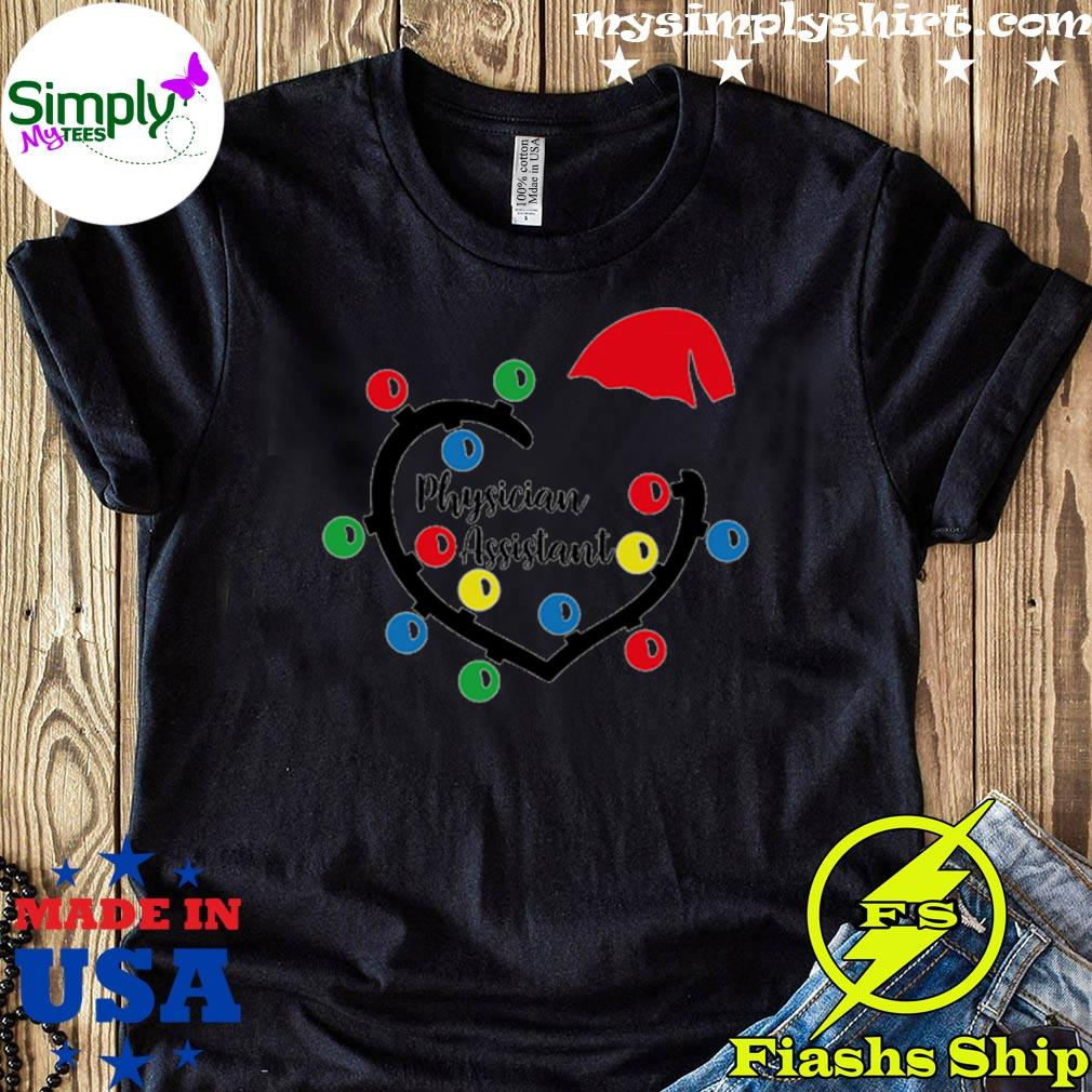 Physician Assistant Heart Christmas Lights Sweater