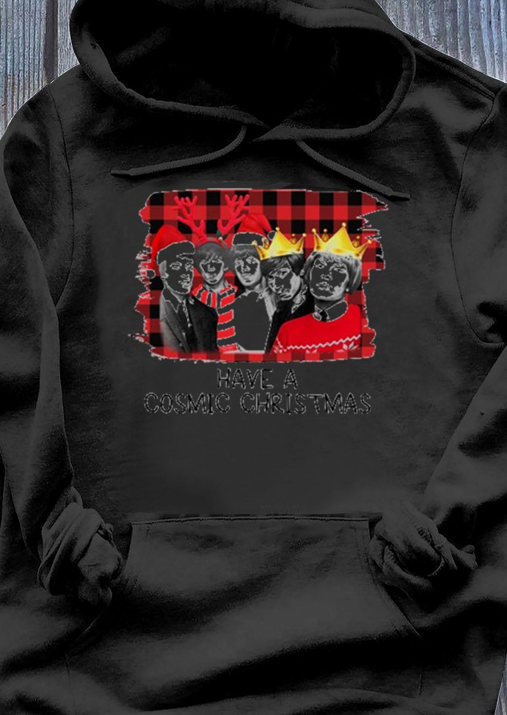 Rolling Stones Santa Hat Have A Cosmic Christmas Sweater Hoodie
