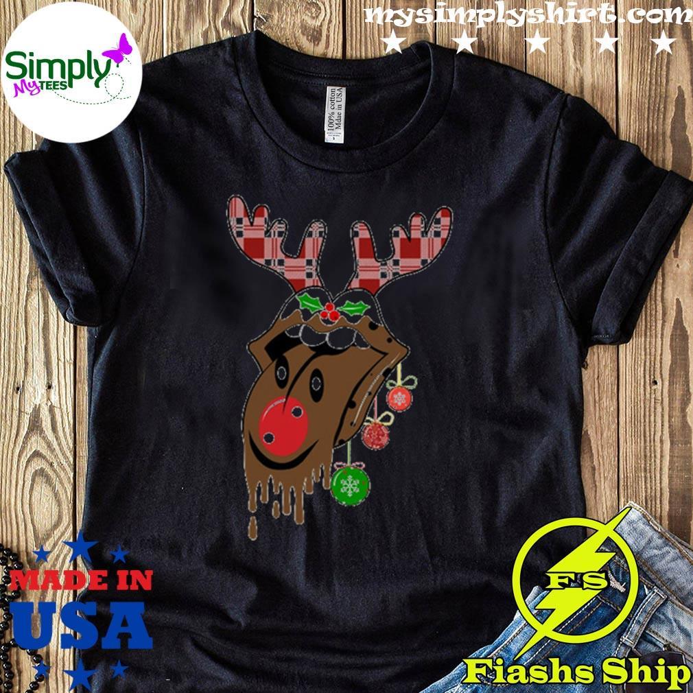 Rolling Stones Tongue Reindeer Christmas Sweater