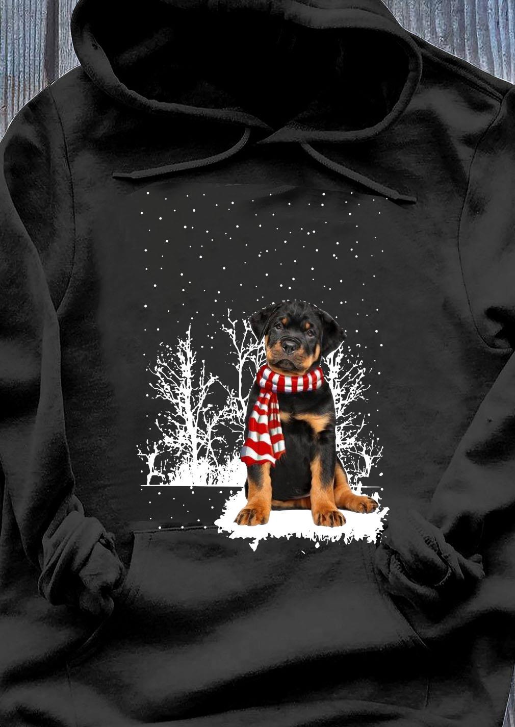 Rottweiler Merry Christmas Shirt Hoodie