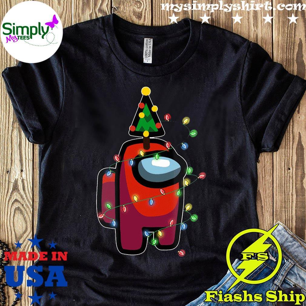 Santa Among Us Character Pine Christmas Tree Shirt