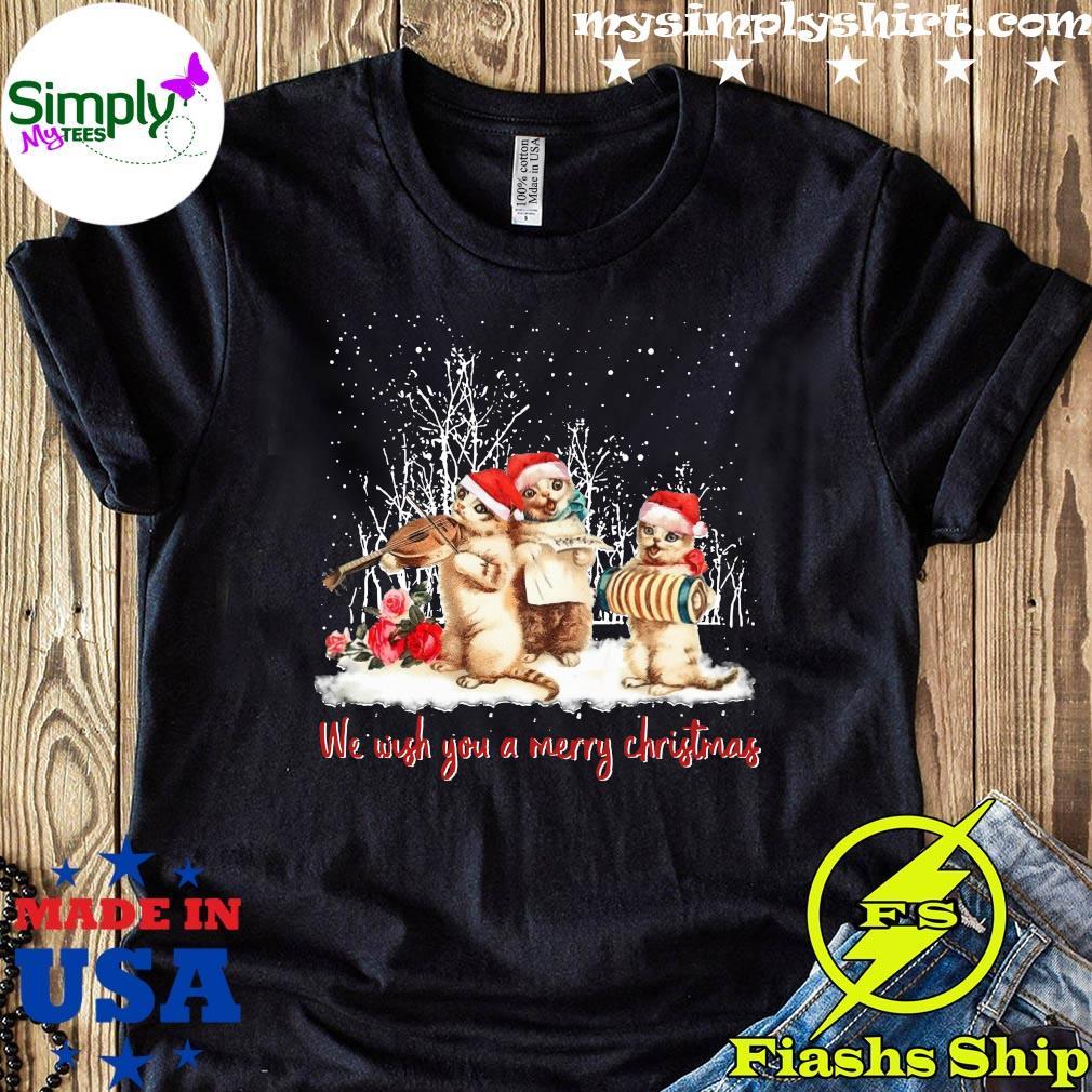 Santa Cats We Wish You A Merry Christmas Shirt