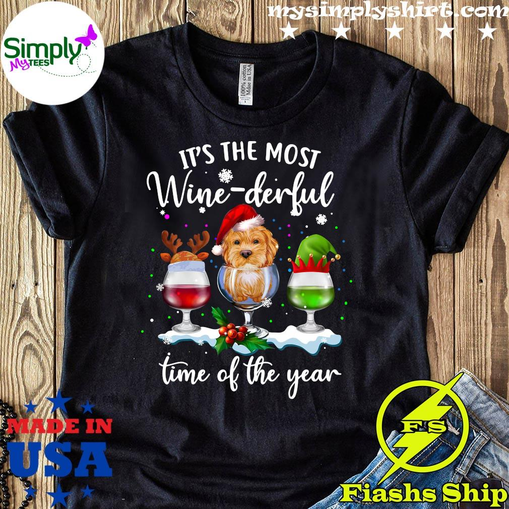 Santa Yorkie It's The Most Wine-Derful Time Of The Year Christmas Shirt