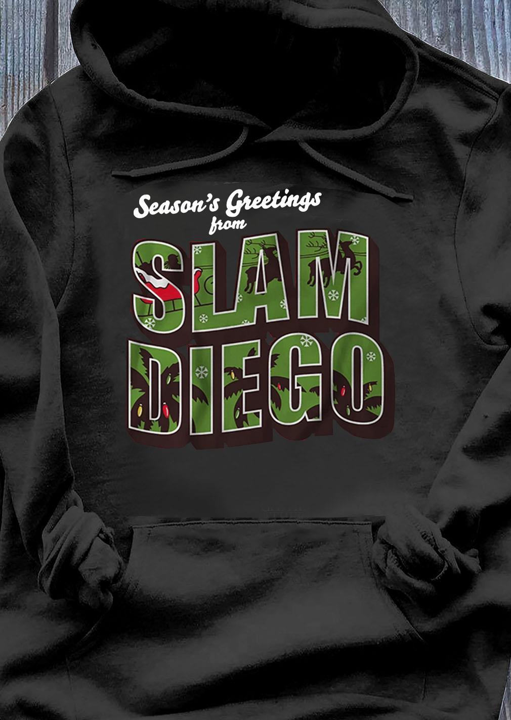 Season's Greetings from Slam Diego Official Christmas Tee Shirt Hoodie