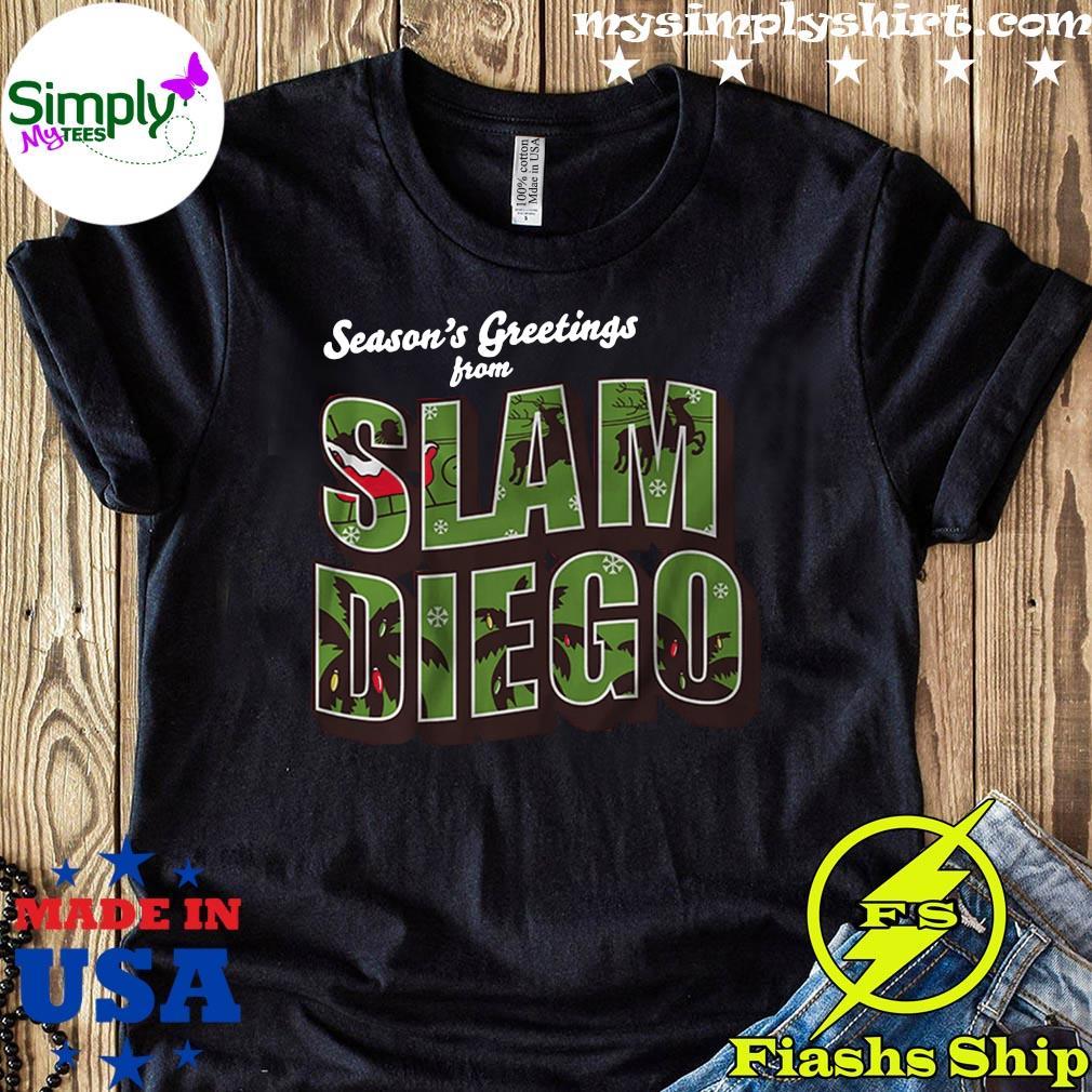Season's Greetings from Slam Diego Official Christmas Tee Shirt
