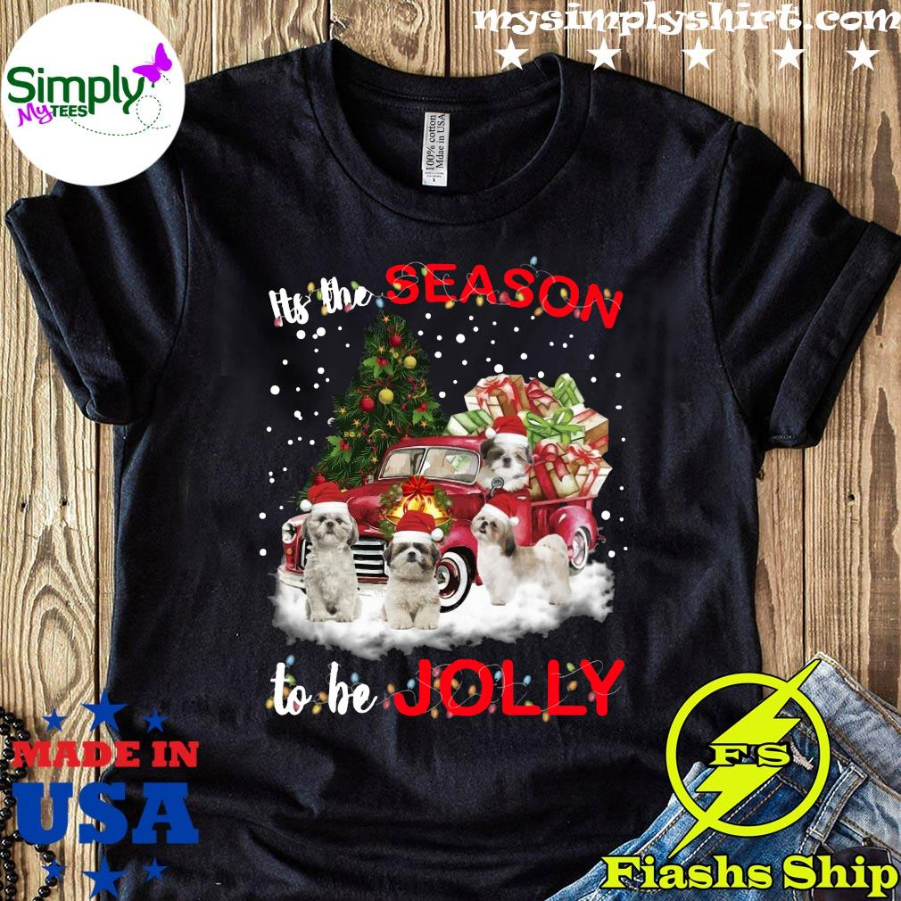 Shih Tzu Its The Season To Be Jolly Crewneck Sweatshirt