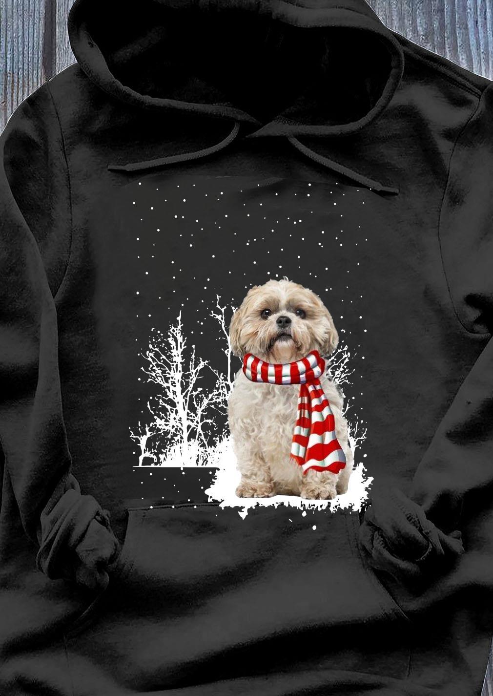 Shih Tzu Merry Christmas Sweater Hoodie