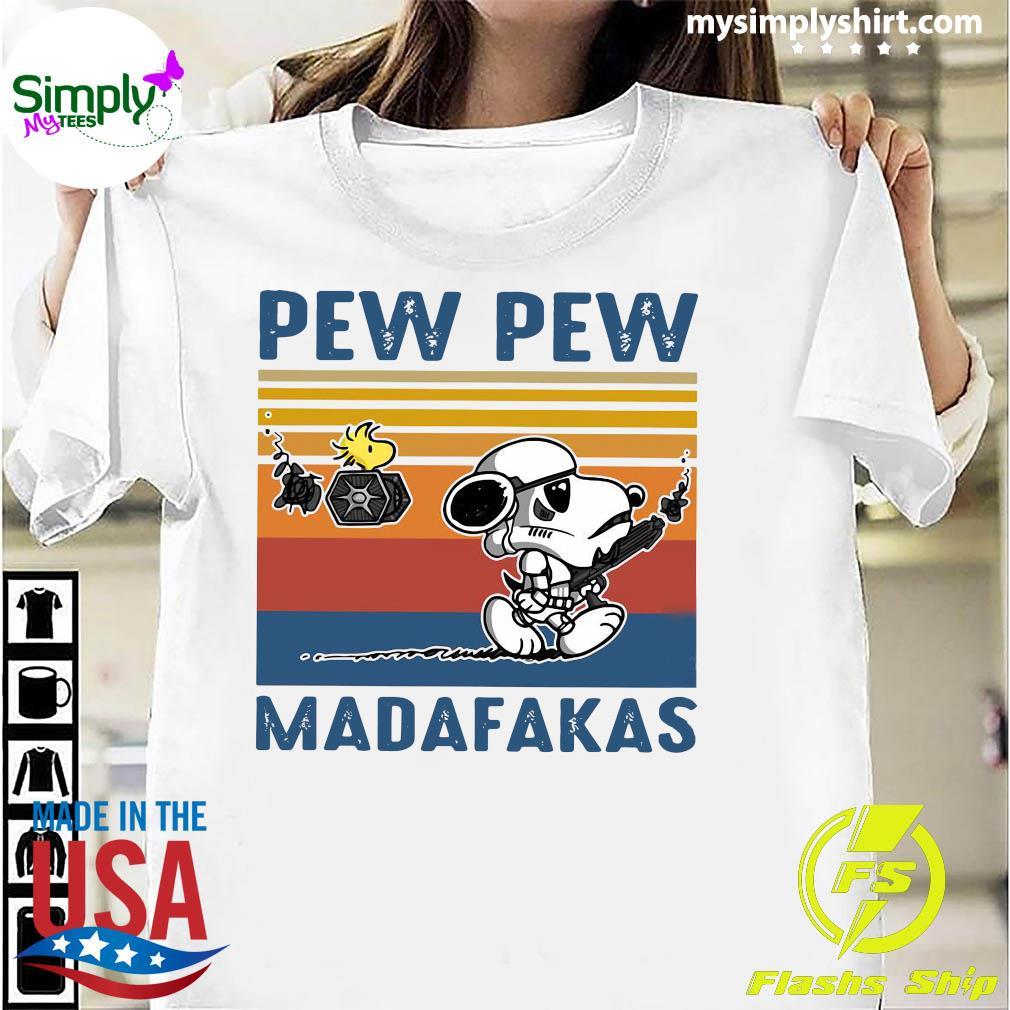 Star Wars Snoopy And Woodstock Pew Pew Madafakas Vintage Shirt