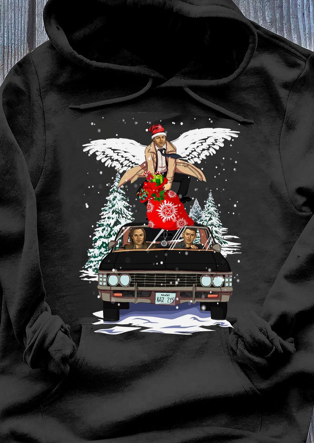Supernatural And Merry Christmas Shirt Hoodie