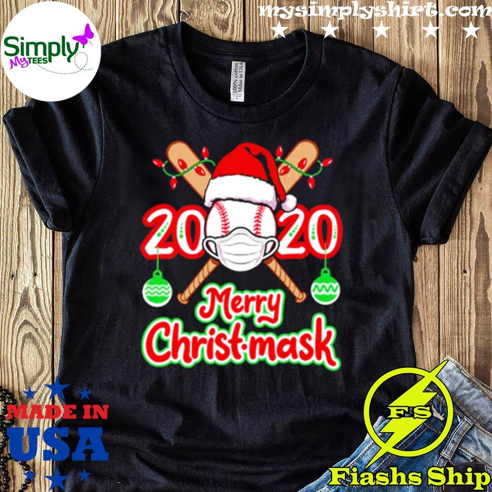 Baseball Face Mask Merry Christmask 2020 Shirt