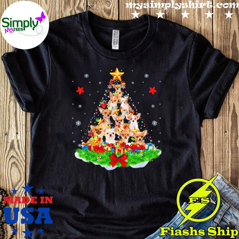 Chihuahuas Christmas tree Sweatshirt