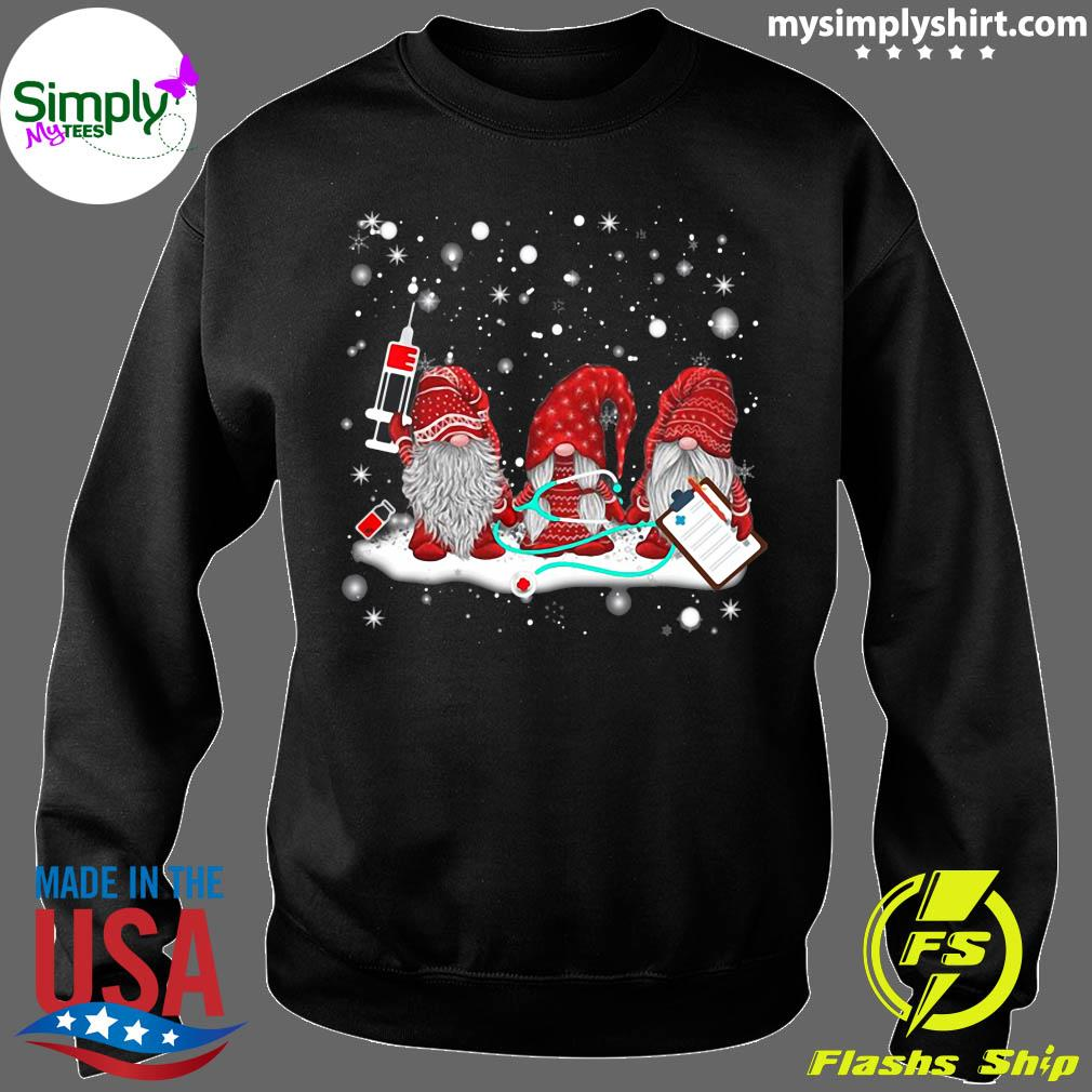 Funny Nurse Gnomes Santa Christmas Light Nursing Lover Gifts T-Shirt