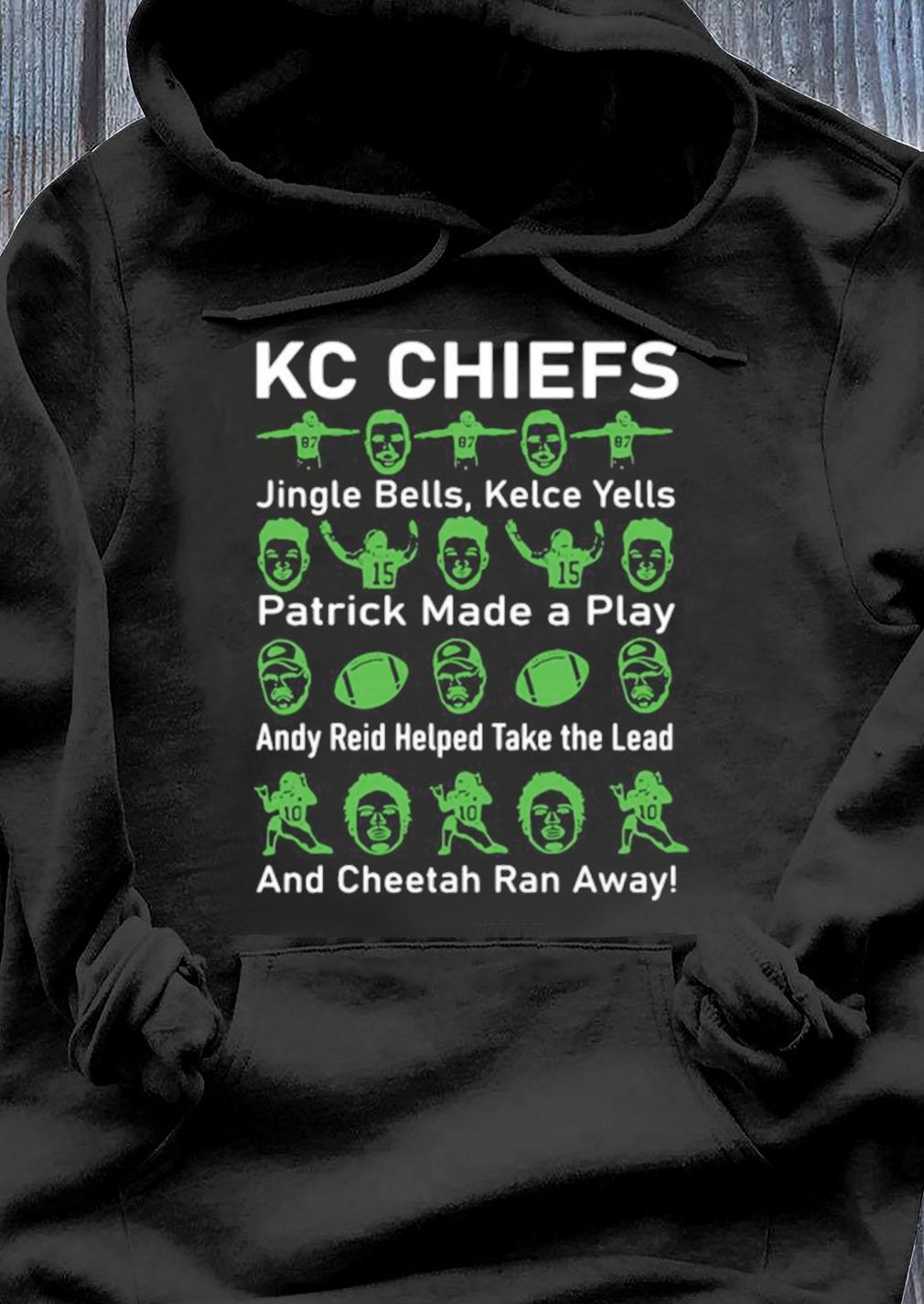 Kc Chiefs Jingle Bells Kelce Yells Patrick Made A Play Shirt Hoodie