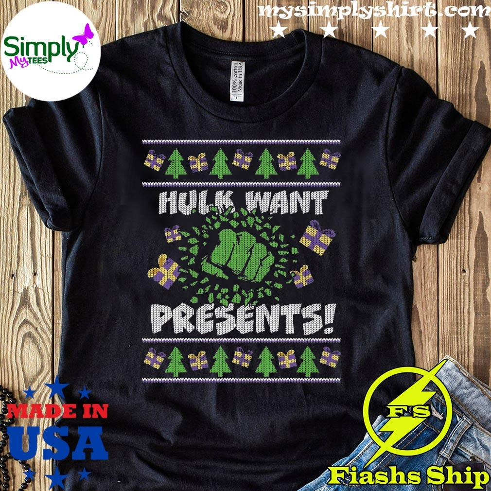 Marvel Hulk Smash Presents Holiday Shirt