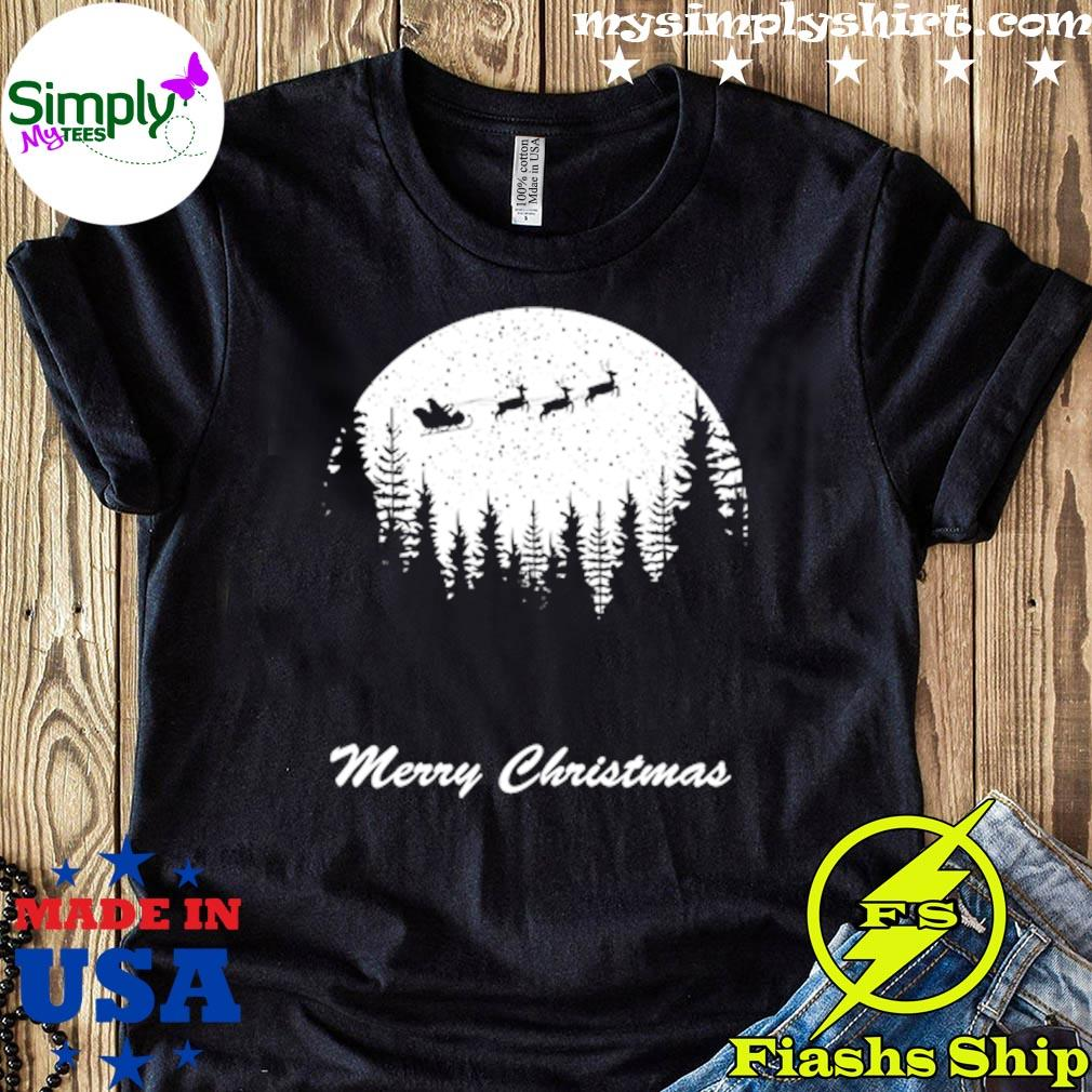 Merry Christmas Moon Santa Shirt