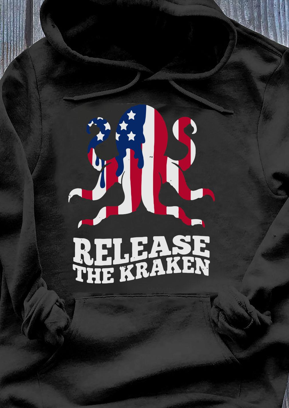 Release The Kraken Flag America Shirt Hoodie