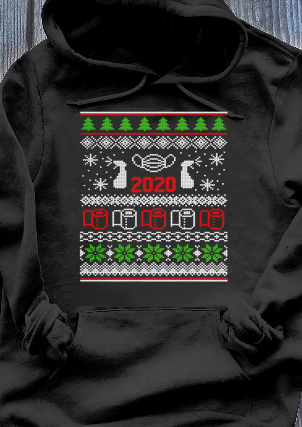 Ugly Christmas Sweater 2020 Toilet Paper Pandemic Funny Xmas Gifts Shirt Hoodie