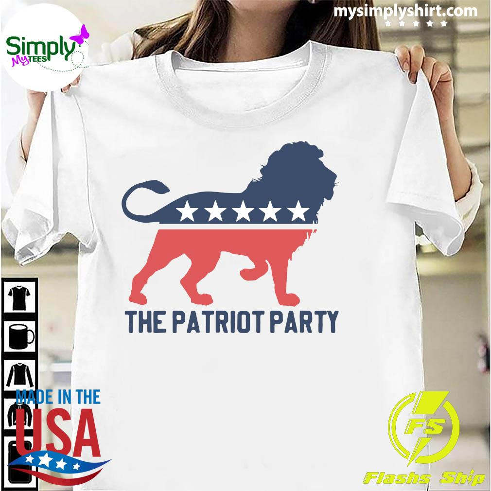 The Patriot Party Lion American Flag Shirt