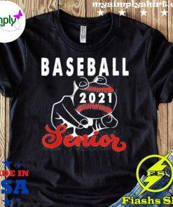 Baseball Senior 2021 Design For Ball Player Graduate Shirt
