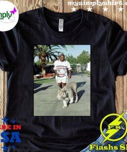 Champion Boxer Walking His Tiger Shirt